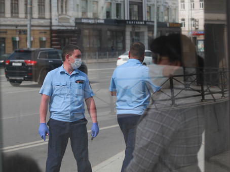 РОСТОВ.Администрация ловила граждан без масок.