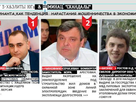 """РЕЙТИНГ 3-Х & ЭЛИТЫ ЮГа НОМИНАЦ. """"СКАНДАЛЫ""""."""