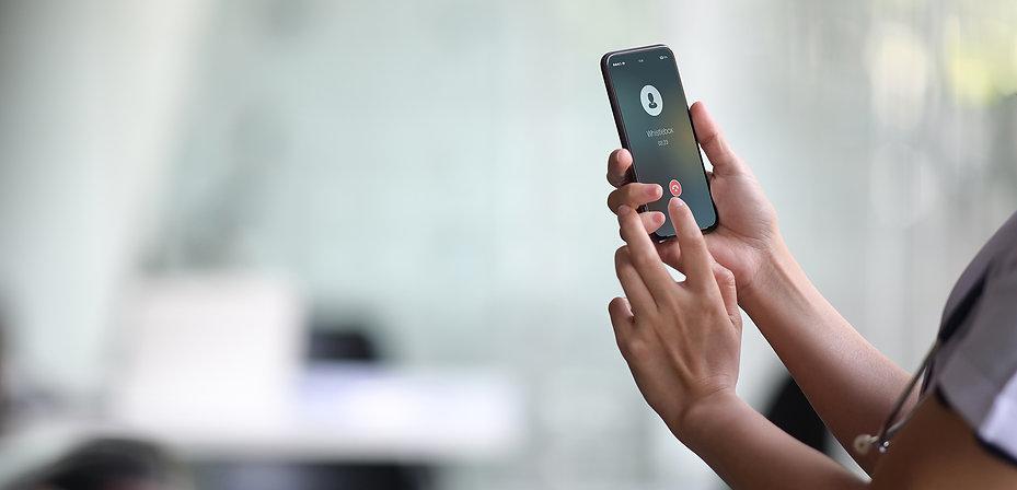 Whistlebox phone calling healthcare webs