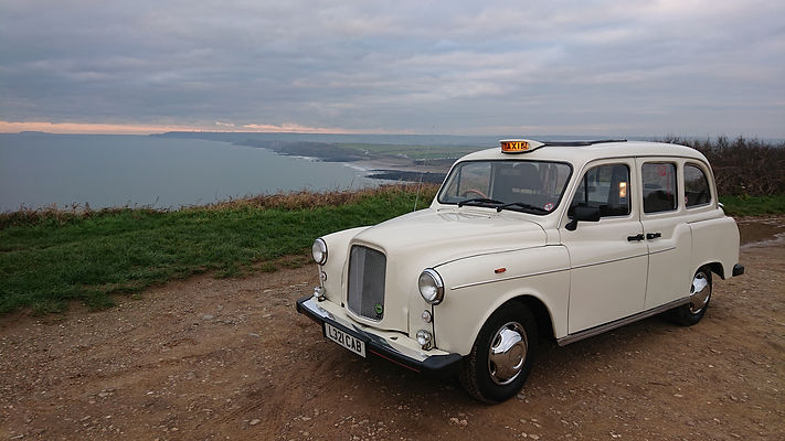 Little White Taxi overlooking Widemouth Bay..JPG