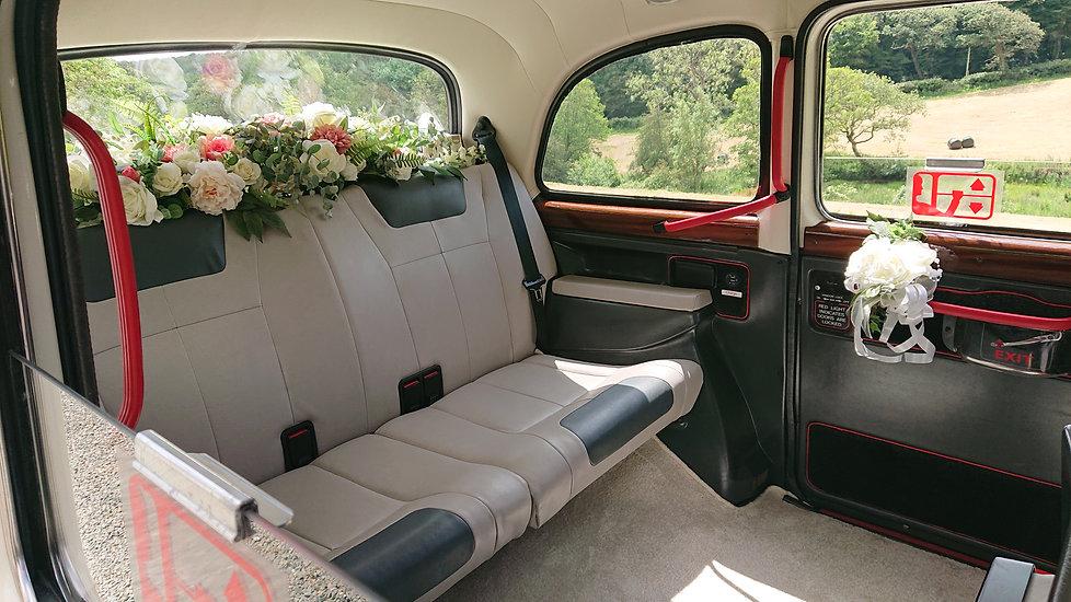 Wedding taxi through ns window.JPG