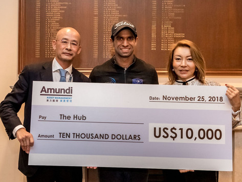 Amundi donation to The Hub Hong Kong through Honma Hong Kong Open 2018