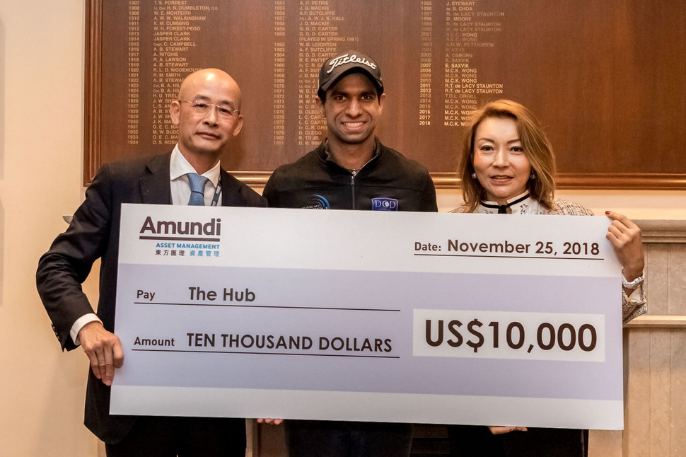 Amundi donation to The Hub Hong Kong through Honma Hong Kong Open 2018