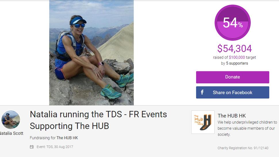 Natalia is Fundraising for The Hub HK