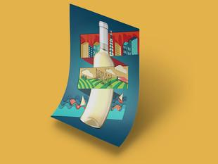 Bodegas Terras Gauda Poster Design