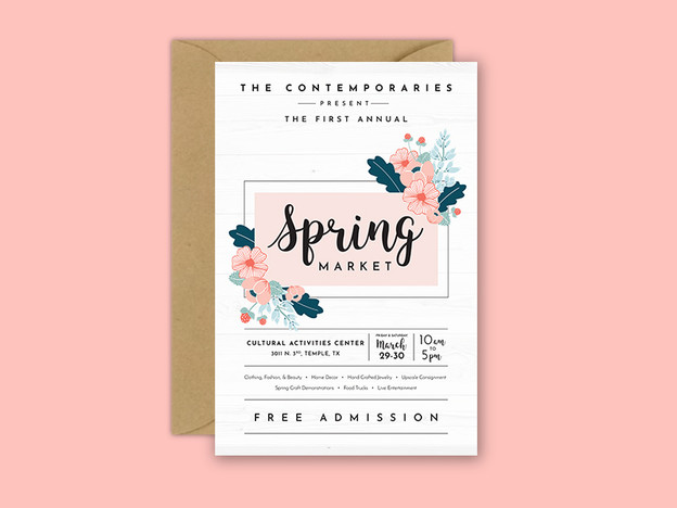 Spring Market Identity & Marketing Design