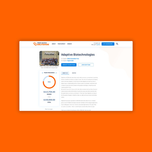 Obliteride Fundraising Platform Redesign