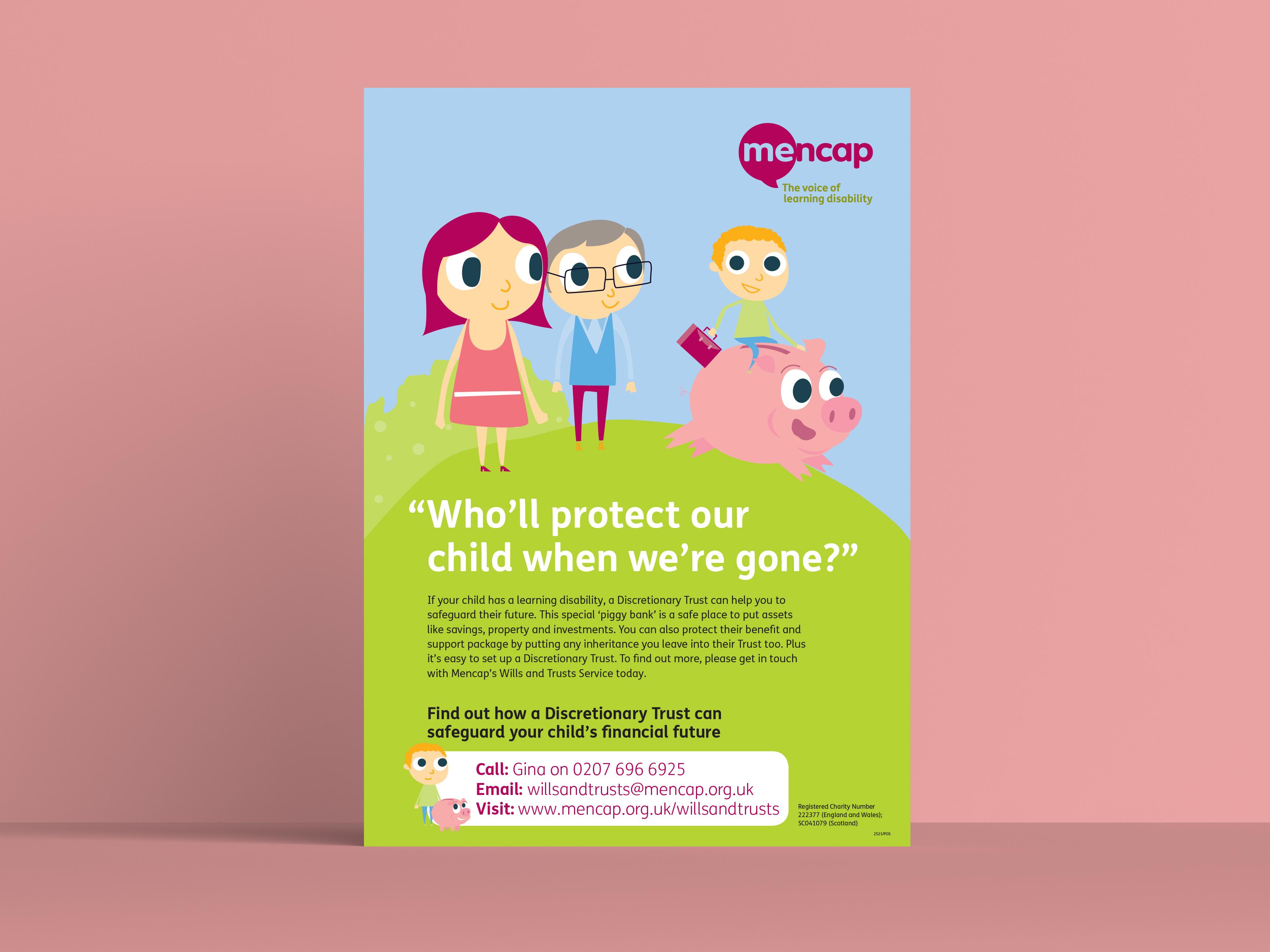 mencap pig poster