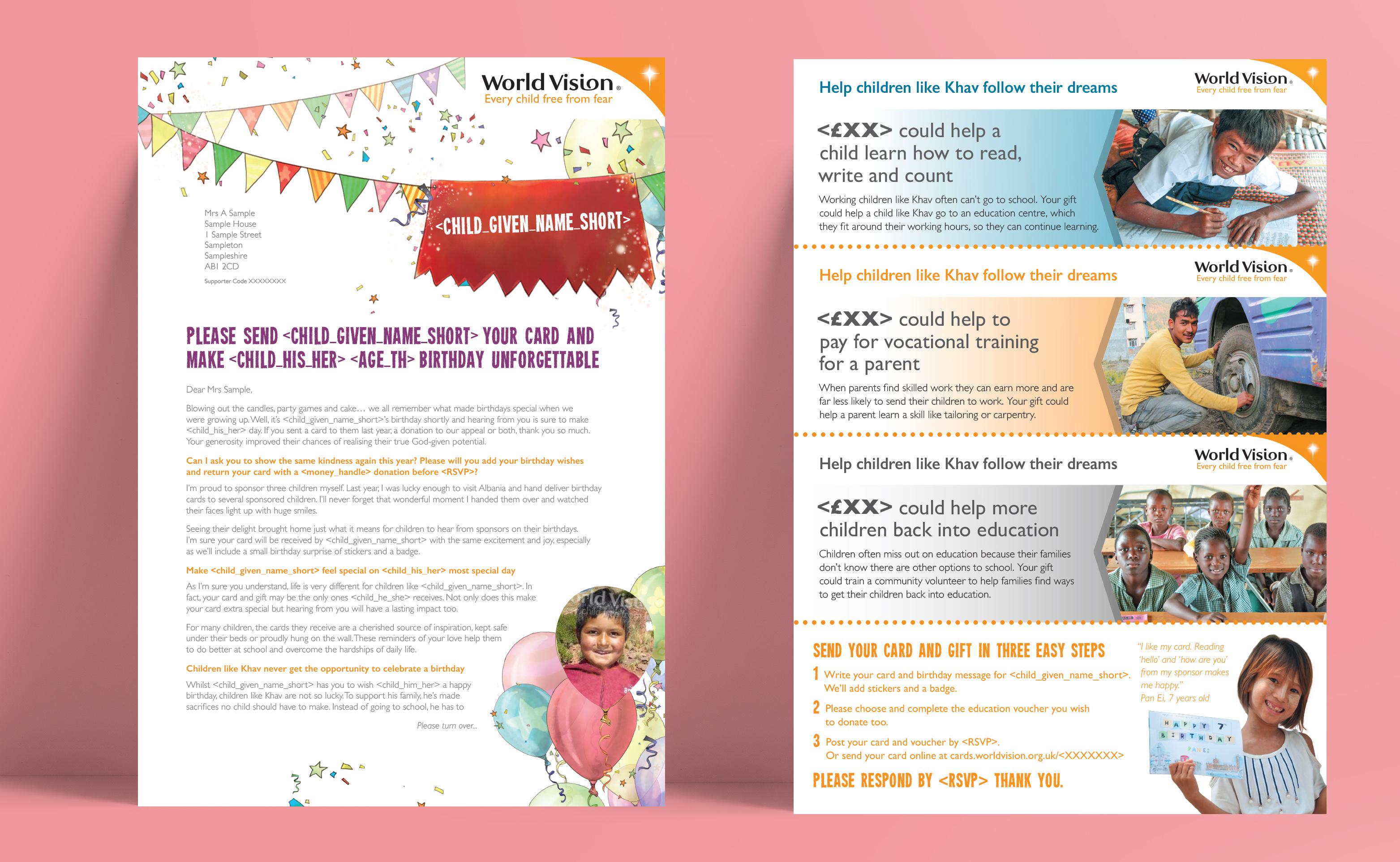 WV Birthday pack letter don