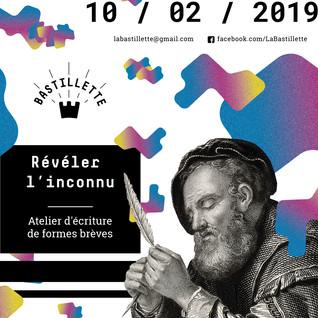 """""""Les Formes brèves"""" – atelier d'écriture #2 – 10/02/2019"""
