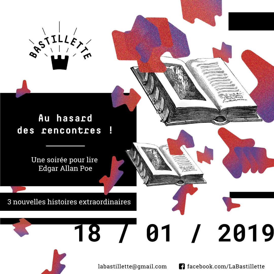 """""""Au hasard des rencontres"""" – une soirée pour lire… – 18/01/2019"""