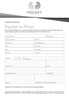 Patienteninformation Urologie Ahrensburg