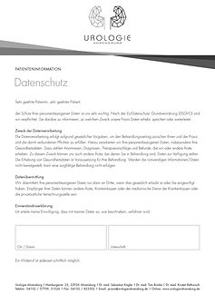 Datenschutz Urologie Ahrensburg