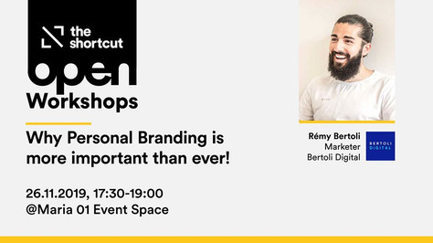 Personal branding workshop in collaboration with The Shortcut