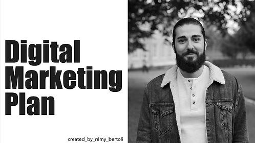 Digital Marketing Plan Template- PPT/GDrive