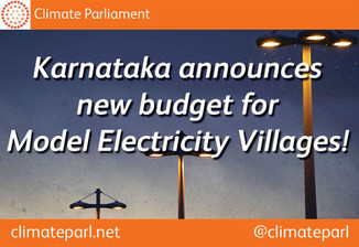 Karnataka, India: new budget to develop energy-efficient Model Electricity Villages