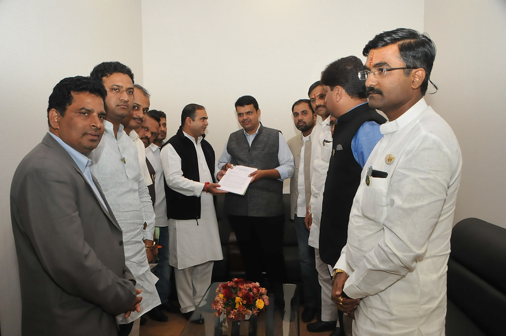 MLAs with Chief Minister of Maharashtra