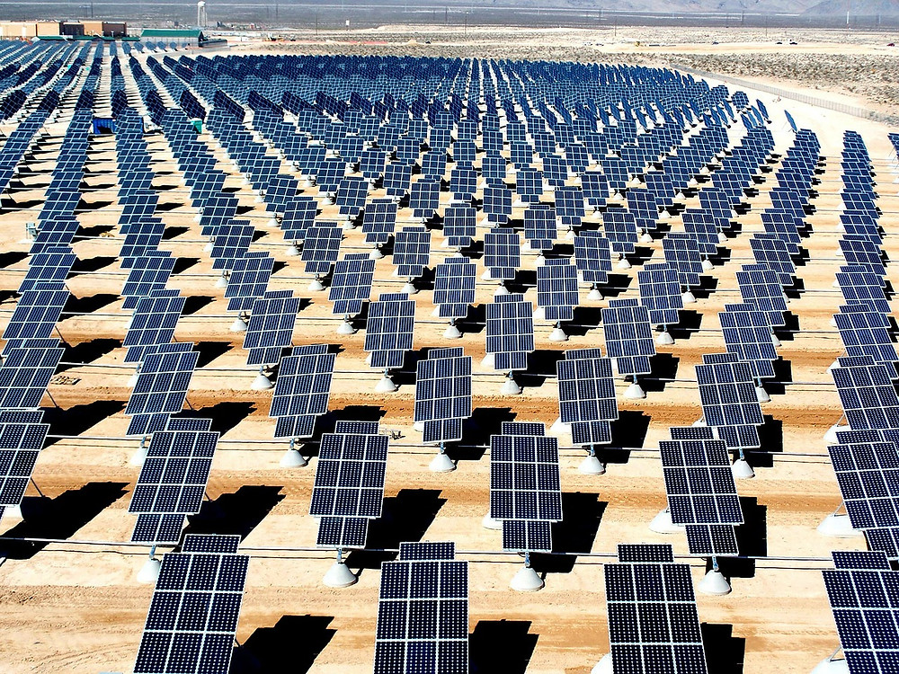 Lots and lots of solar panels
