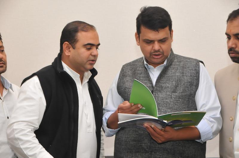 Maharashtra's Chief Minister, Devendra Fadnavis, with Climate Parliament MLAs