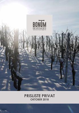 Prisliste Bonum Beverages PRIVAT - 2018