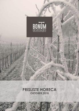 Prisliste Bonum Beverages HORECA 2018