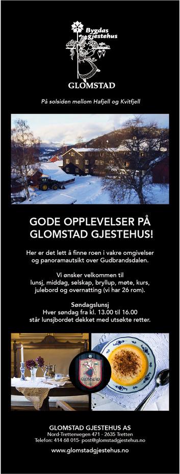 Glomstad Gjestehus-annonse