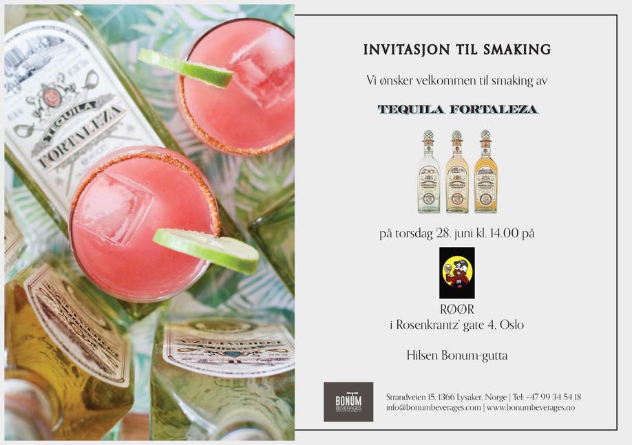 Invitasjon Tequila Fortaleza