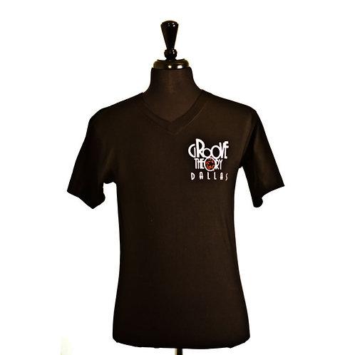 Men shirt V-Neck standard (Black)
