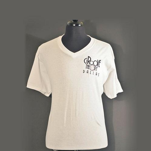 Men shirt V-Neck Glitter (White)