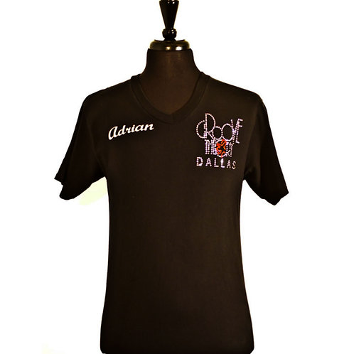 Men shirt V-Neck Glitter (Black)