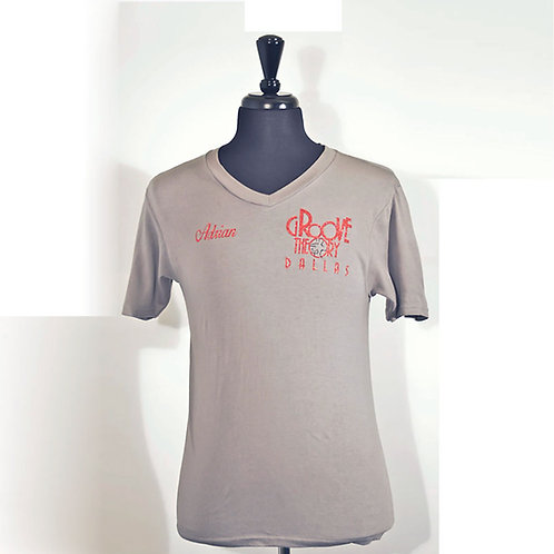 Men shirt V-Neck Glitter (Grey)