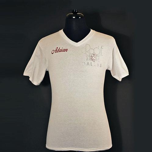 Men shirt V-Neck Bling (White)