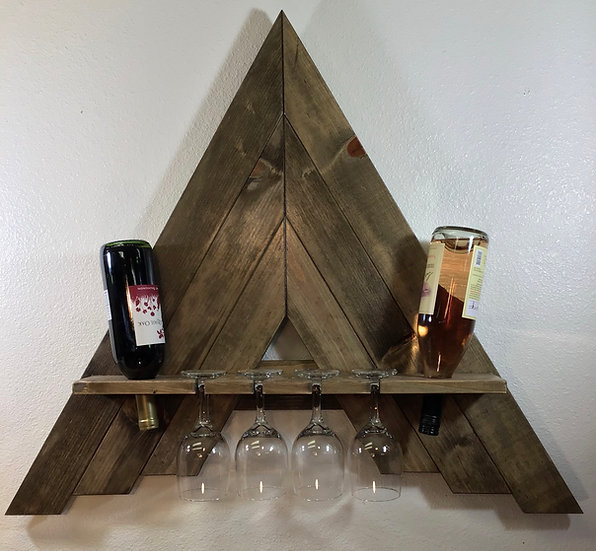 Wall Mount A-Frame Wine Rack