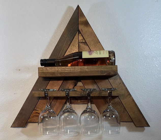 Mini Wall Mount A-Frame Wine Rack