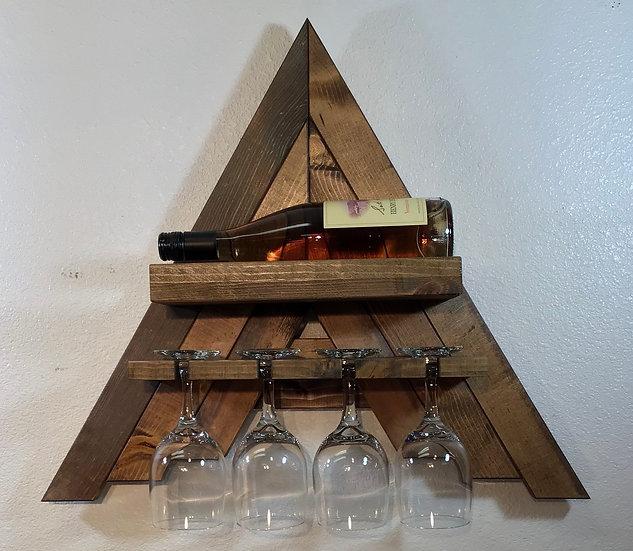 Mini Wall Mount A-Frame Wine Rack