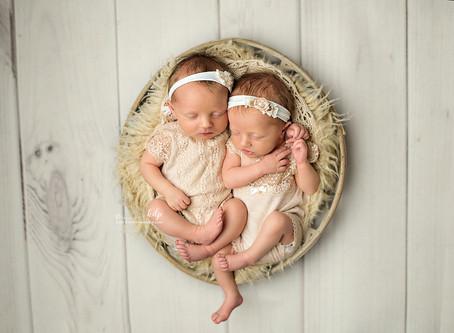 Wynn & Wesli | Newborn Twin Girls