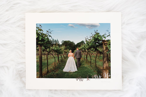 8x10 Natural White Matte Print With Foiled Caption
