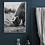 Thumbnail: PORTRAIT OR LANDSCAPE A4 BLACK AND WHITE HIGHLAND COW POSTER PRINT