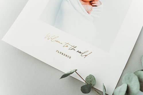 PERSONALISED A4 FOIL CAPTION PRINT - GOLD, ROSE GOLD OR SILVER