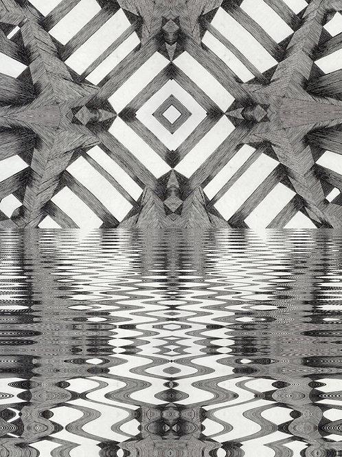 "Bipolarized Reflective Mirage, 11"" x 14"" giclee print"