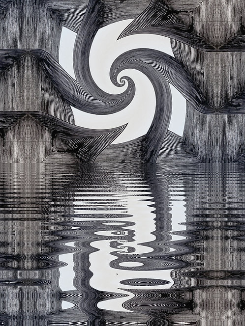 """Mirroring A Spiral Of Hope, 11"""" x 14"""" giclee print"""