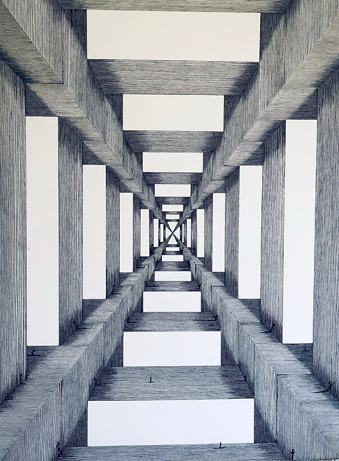 "A Psychotropic Donald Judd, 11"" x 14"" giclee print"