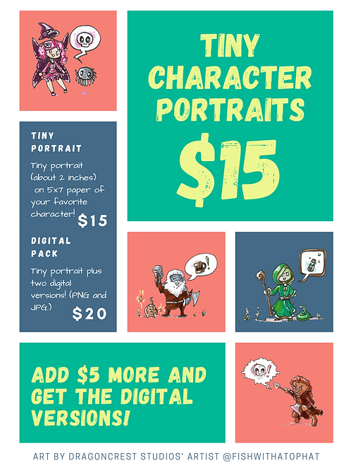 CUSTOM: Get Your Own Tiny Portrait!