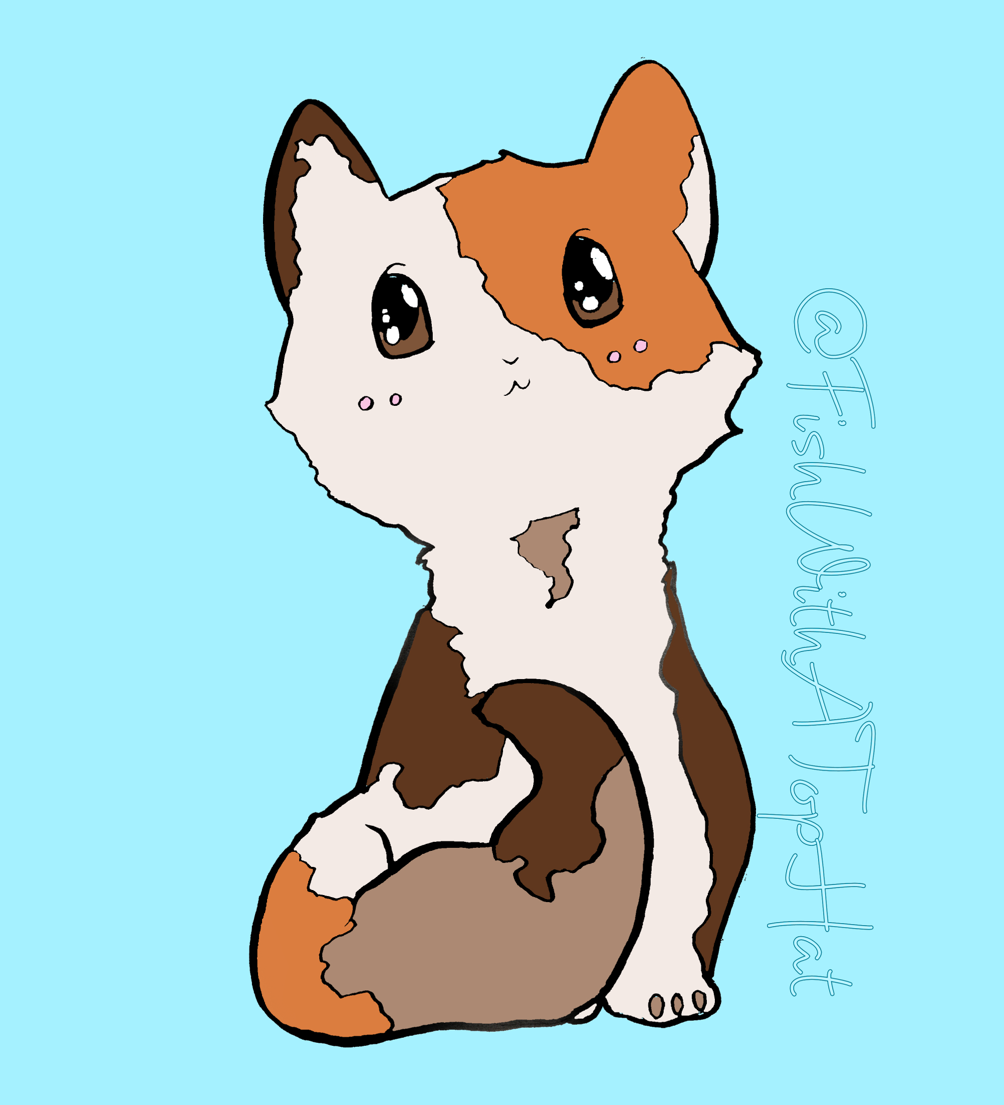 FishWithATopHat - Calico Kitty