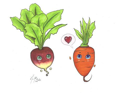Turnip and Carrot Love