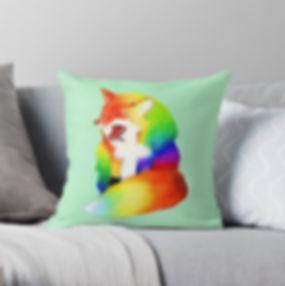Rainbow Fox Pillow.jpg