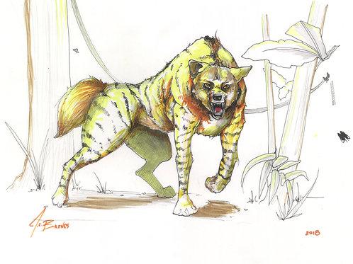 Snarling Hyena Critter