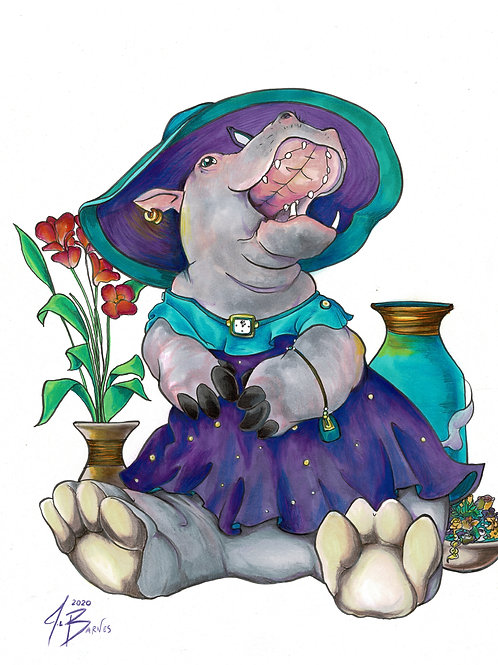 Delilah, Lady Hippo (Lady Animals Series)