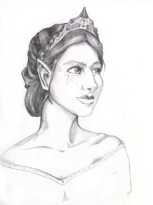 Elven Princess Sketch