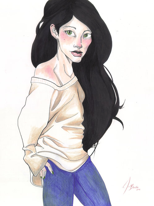 Black-haired Lady